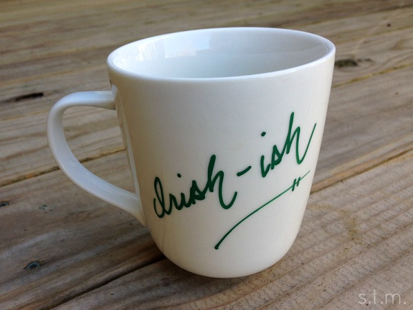 sharpie shamrock mug